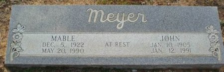 MEYER, MABLE - Red River County, Texas | MABLE MEYER - Texas Gravestone Photos