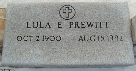 PREWITT, LULA E - Red River County, Texas | LULA E PREWITT - Texas Gravestone Photos