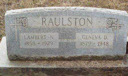 RAULSTON, GENEVA D - Red River County, Texas | GENEVA D RAULSTON - Texas Gravestone Photos