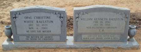 WHITE RAULSTON, OPAL CHRISTINE - Red River County, Texas | OPAL CHRISTINE WHITE RAULSTON - Texas Gravestone Photos