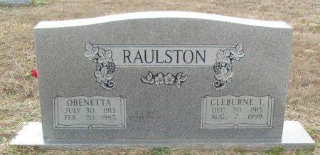 CHANDLER RAULSTON, OBENETTA - Red River County, Texas | OBENETTA CHANDLER RAULSTON - Texas Gravestone Photos