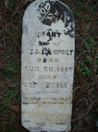 SPORT, INFANT DAUGHTER - Red River County, Texas | INFANT DAUGHTER SPORT - Texas Gravestone Photos