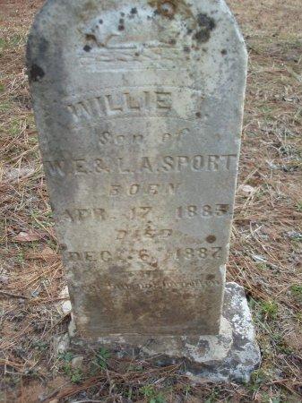 SPORT, WILLIE - Red River County, Texas | WILLIE SPORT - Texas Gravestone Photos