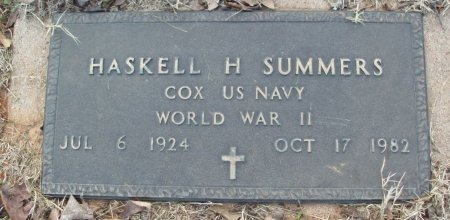 SUMMERS (VETERAN WWII), HASKELL H - Red River County, Texas | HASKELL H SUMMERS (VETERAN WWII) - Texas Gravestone Photos