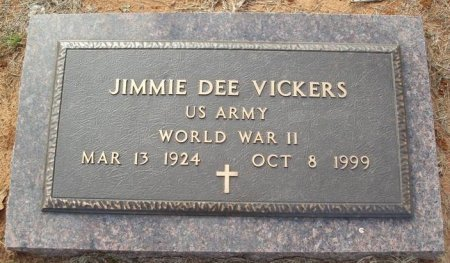 VICKERS (VETERAN WWII), JIMMIE DEE - Red River County, Texas | JIMMIE DEE VICKERS (VETERAN WWII) - Texas Gravestone Photos