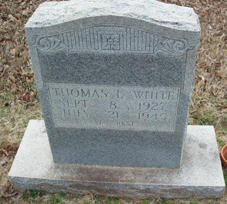 WHITE, THOMAS L - Red River County, Texas | THOMAS L WHITE - Texas Gravestone Photos
