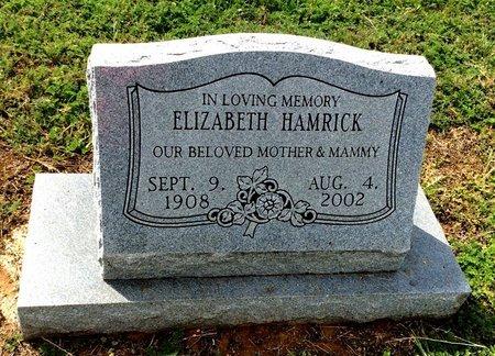 HAMRICK, ELIZABETH - San Saba County, Texas   ELIZABETH HAMRICK - Texas Gravestone Photos