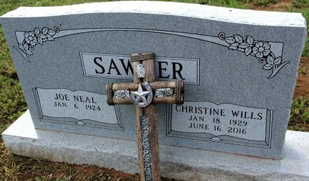 WILLS SAWYER, CHRISTINE - San Saba County, Texas | CHRISTINE WILLS SAWYER - Texas Gravestone Photos