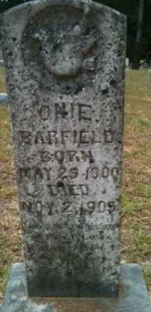 BARFIELD, ONIE - Shelby County, Texas   ONIE BARFIELD - Texas Gravestone Photos
