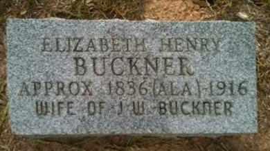 BUCKNER, ELIZABETH - Shelby County, Texas | ELIZABETH BUCKNER - Texas Gravestone Photos