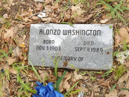 WASHINGTON, ALONZO - Smith County, Texas | ALONZO WASHINGTON - Texas Gravestone Photos