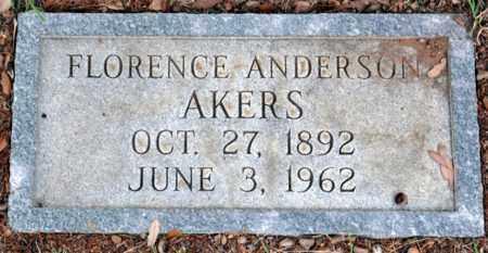 AKERS, FLORENCE BAILES - Tarrant County, Texas | FLORENCE BAILES AKERS - Texas Gravestone Photos