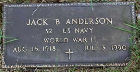 ANDERSON (VETERAN WWII), JACK B - Tarrant County, Texas | JACK B ANDERSON (VETERAN WWII) - Texas Gravestone Photos