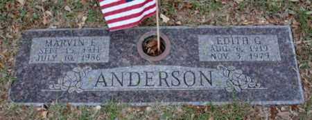 ANDERSON, MARVIN E - Tarrant County, Texas | MARVIN E ANDERSON - Texas Gravestone Photos