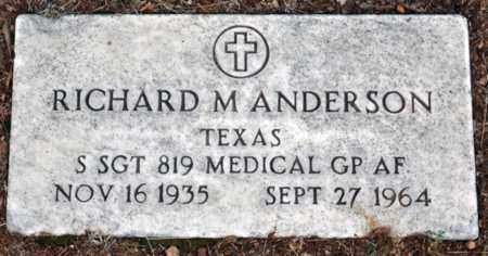 ANDERSON (VETERAN), RICHARD MAURICE - Tarrant County, Texas | RICHARD MAURICE ANDERSON (VETERAN) - Texas Gravestone Photos