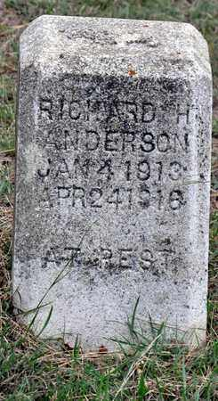ANDERSON, RICHARD H - Tarrant County, Texas | RICHARD H ANDERSON - Texas Gravestone Photos