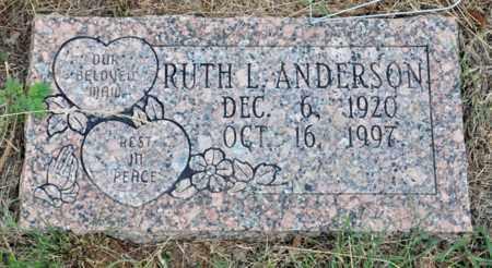 ANDERSON, RUTH L - Tarrant County, Texas | RUTH L ANDERSON - Texas Gravestone Photos