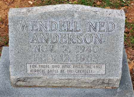 ANDERSON, WENDELL NED - Tarrant County, Texas | WENDELL NED ANDERSON - Texas Gravestone Photos