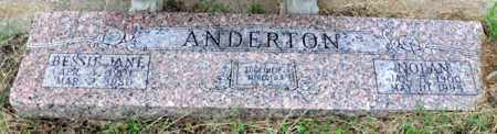 ANDERTON, NOLAN - Tarrant County, Texas | NOLAN ANDERTON - Texas Gravestone Photos