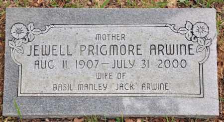 ARWINE, JEWELL PRIGMORE - Tarrant County, Texas | JEWELL PRIGMORE ARWINE - Texas Gravestone Photos