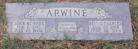 ARWINE, BESSIE FRANCES - Tarrant County, Texas   BESSIE FRANCES ARWINE - Texas Gravestone Photos