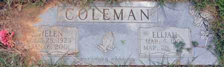 COLEMAN, ELIJAH - Tarrant County, Texas | ELIJAH COLEMAN - Texas Gravestone Photos