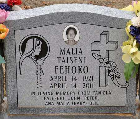 FEHOKO, MALIA TAISENI - Tarrant County, Texas   MALIA TAISENI FEHOKO - Texas Gravestone Photos