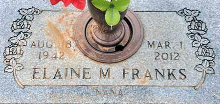 MARTIN FRANKS, ELAINE - Tarrant County, Texas | ELAINE MARTIN FRANKS - Texas Gravestone Photos