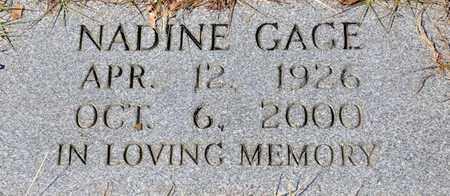 GAGE, NADINE - Tarrant County, Texas | NADINE GAGE - Texas Gravestone Photos