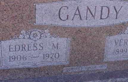 GANDY, EDRESS M - Tarrant County, Texas   EDRESS M GANDY - Texas Gravestone Photos