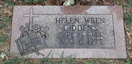 WREN GIDDEN, HELEN ARTHURENE - Tarrant County, Texas | HELEN ARTHURENE WREN GIDDEN - Texas Gravestone Photos