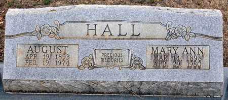 HALL, AUGUST FREDERICK - Tarrant County, Texas | AUGUST FREDERICK HALL - Texas Gravestone Photos