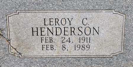 HENDERSON, LEROY CECIL - Tarrant County, Texas | LEROY CECIL HENDERSON - Texas Gravestone Photos
