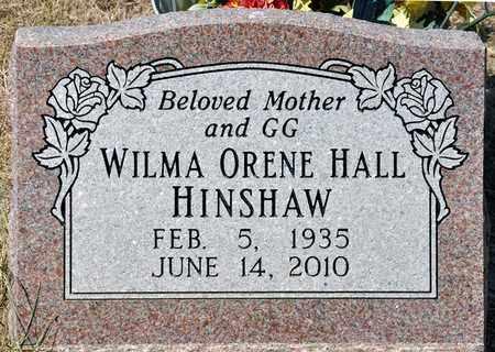 HALL HINSHAW, WILMA ORENE - Tarrant County, Texas | WILMA ORENE HALL HINSHAW - Texas Gravestone Photos