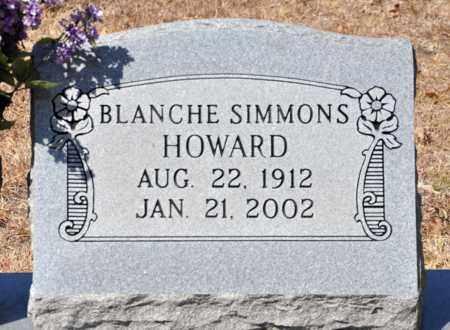 SIMMONS HOWARD, BLANCHE - Tarrant County, Texas | BLANCHE SIMMONS HOWARD - Texas Gravestone Photos
