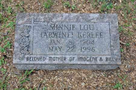 KERLEE, MINNIE LOU - Tarrant County, Texas   MINNIE LOU KERLEE - Texas Gravestone Photos
