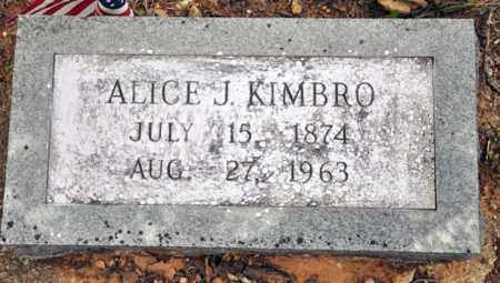 KIMBRO, ALLICE J - Tarrant County, Texas | ALLICE J KIMBRO - Texas Gravestone Photos