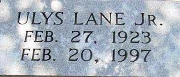 LANE, JR., ULYS - Tarrant County, Texas   ULYS LANE, JR. - Texas Gravestone Photos
