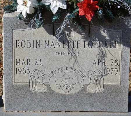 LOECKLE, ROBIN NANETTE - Tarrant County, Texas | ROBIN NANETTE LOECKLE - Texas Gravestone Photos