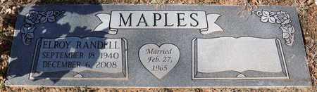 MAPLES, ELROY RANDELL - Tarrant County, Texas | ELROY RANDELL MAPLES - Texas Gravestone Photos