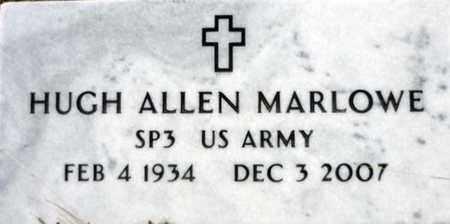 MARLOWE (VETERAN), HUGH ALLEN - Tarrant County, Texas | HUGH ALLEN MARLOWE (VETERAN) - Texas Gravestone Photos