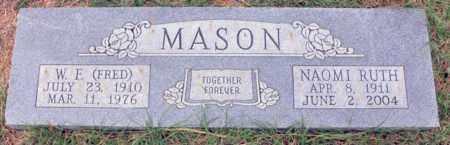 MASON, W F - Tarrant County, Texas | W F MASON - Texas Gravestone Photos