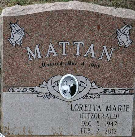 MATTAN, LORETTA MARIE - Tarrant County, Texas | LORETTA MARIE MATTAN - Texas Gravestone Photos