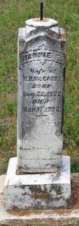 MCCANNE, NANNIE E - Tarrant County, Texas | NANNIE E MCCANNE - Texas Gravestone Photos