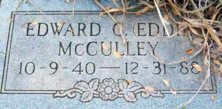 MCCULLEY, EDWARD C - Tarrant County, Texas | EDWARD C MCCULLEY - Texas Gravestone Photos