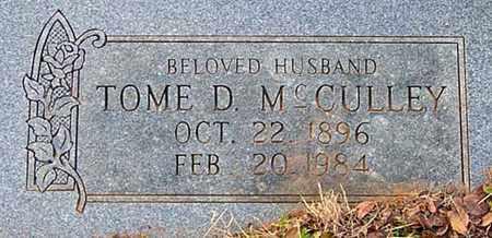 MCCULLEY, TOME D - Tarrant County, Texas   TOME D MCCULLEY - Texas Gravestone Photos