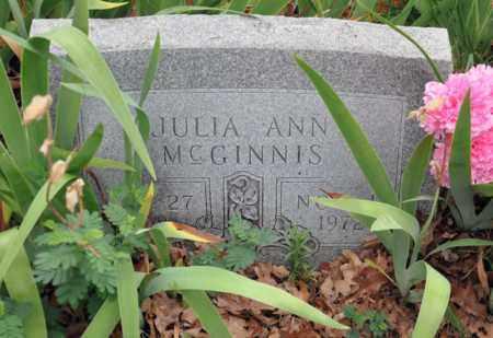 GARRETT MCGINNIS, JULIA ANN - Tarrant County, Texas | JULIA ANN GARRETT MCGINNIS - Texas Gravestone Photos