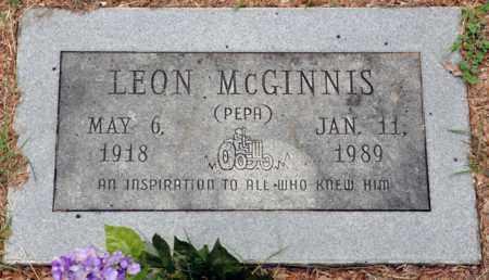 MCGINNIS, LEON - Tarrant County, Texas   LEON MCGINNIS - Texas Gravestone Photos