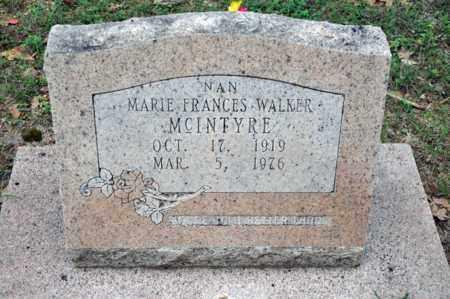 MCINTYRE, MARIE FRANCES - Tarrant County, Texas | MARIE FRANCES MCINTYRE - Texas Gravestone Photos