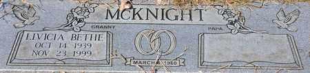 MCKNIGHT, LIVICIA BETHE - Tarrant County, Texas | LIVICIA BETHE MCKNIGHT - Texas Gravestone Photos